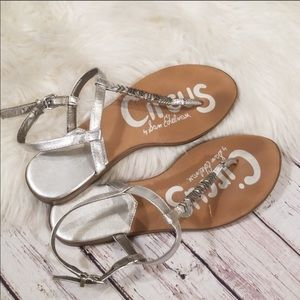 Sam Edelman | Circus Metallic Silver Sandals 6